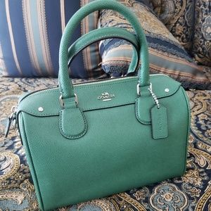 COACH Bennett Mini Crossgrain Leather Satchel